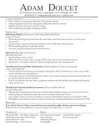 Disney Resume Template Walt Disney Resume Resume For Your Job Application
