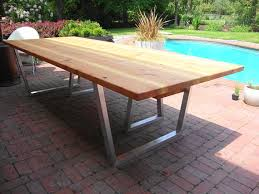 Modern Outdoor Dining Table And Bench Cedar  Hand Brushed - Designer outdoor tables