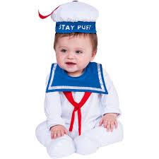 infant boy halloween costumes stay puft onesie baby halloween costume walmart com