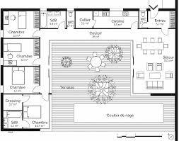 plan maison en l 4 chambres plan maison 4 chambre plain pied unique plan maison en u avec 4