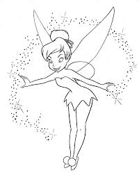 tinkerbell black white tinkerbell coloring pages kids 3