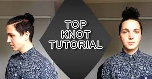 mens hair topknot top knot tutorial men s hair styles youtube