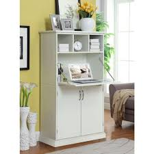 Secretarys Desk Amelia Storage Wooden Desk In White Kitchen