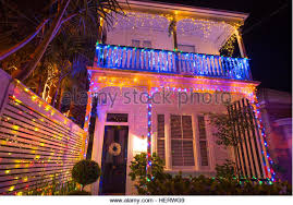 christmas lights house outdoor night stock photos u0026 christmas