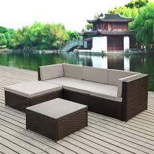 Small Outdoor Patio Furniture Sofas Wonderful Outdoor Patio Set Rattan Garden Sofa Small