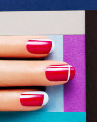 nail art designs and nail polishes for french manicure nails glamour