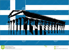 Greece Flag Colors Greece Flag With Parthenon Stock Vector Illustration Of Artistic