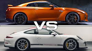 nissan coupe 2017 2017 nissan gt r vs 2017 porsche 911 r youtube