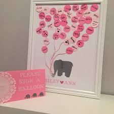 diy baby shower guest book elephant themed for our baby