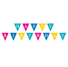 Banners Flags Pennants Bright Happy Birthday Flag Banner Birthday Party Decorations