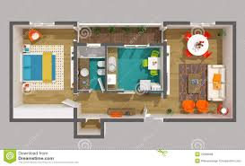 apartment floor plan top view stock image image 14152571