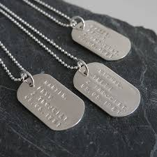 personalised solid silver identity dog tags by dizzy