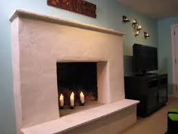 weekend projects resurface a fireplace with stucco hgtv