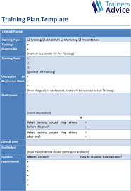 download training plan template for free tidyform