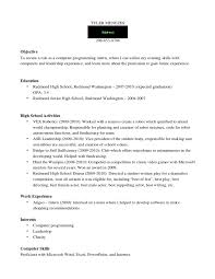 exle resume for high school student homework help keewatin district school board putting