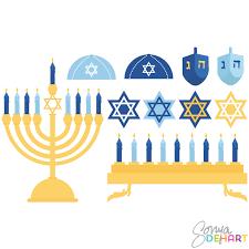 hanukkah banner clip hanukkah celebration set