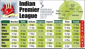 bpl 2017 schedule time table indian premier league full schedule of 2017 ipl t20 play off