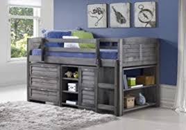 Loft Beds With Desks And Storage Amazon Com Grey Twin Loft Beds With Dresser And Bookshelf Free
