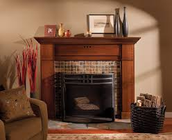 edmonton craftsman fireplace surround family room traditional with