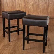 bar stools wood and leather leather counter bar stools for less overstock com