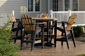 high top patio table and chairs rare trek outdoor furniture composite wood patio table designs