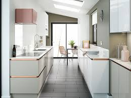 how to make a small galley kitchen work how to make a galley kitchen look bigger goodhomes