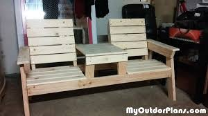 diy double chair bench with table plans myoutdoorplans free