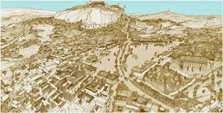 Map Of Athens Greece by Map Of Athens Points Of Interest 5th Century Bc