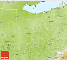 map of ohio physical 3d map of ohio