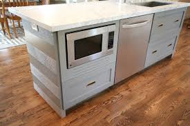 Microwave In Island In Kitchen Design Dump How To Fake A Built In Microwave