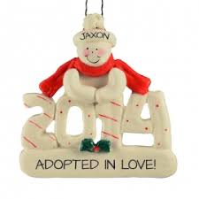 adoption ornaments keepsakes personalized ornaments