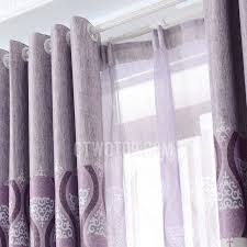 Thick Purple Curtains Blackout Polyester Fabric Purple Color Best Bedroom Curtains