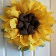 burlap sunflower wreath best sunflower wreath products on wanelo