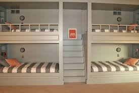 Bunk Beds For Three Three Bunk Beds In One Room Home Design Ideas