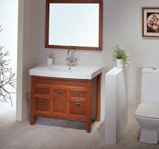 Small Bathroom Sinks With Storage Brown Unique Wooden Vanity Square Curved Porcelain Vessel