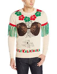 alex stevens men u0027s mele kalikimaka ugly christmas sweater at
