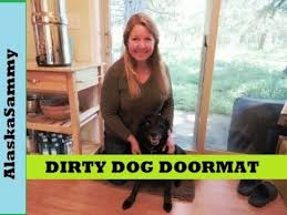 Wipe Your Paws Dog Doormat Dirty Dog Doormat Teach Your Dog To Wipe His Feet Youtube