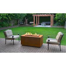 Outdoor Propane Fire Pit Furniture Home Corten Steel Propane Fire Pit Tableoutdoor Fire