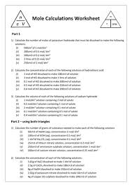 concentration calculations worksheet phoenixpayday com