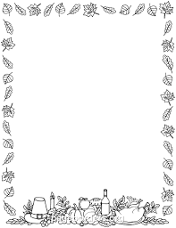 thanksgiving border images happy thanksgiving border clip page