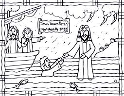 coloring page for a lesson on jesus walking water there is in