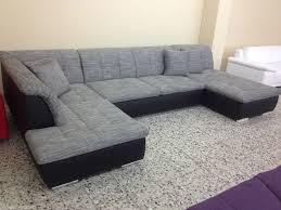 wohnzimmer wohnlandschaft ovp neu u wohnlandschaft sofa wohnzimmer strukturstoff leder