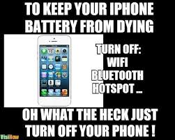 Battery Meme - keep your iphone battery from dying visihow