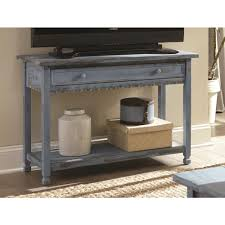 Blue Console Table Alaterre Furniture Country Cottage Blue Antique Media Console