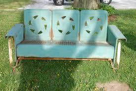 iron glider bench bench decoration