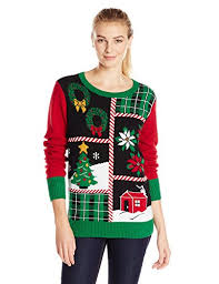 ugly christmas sweater with lights ugly christmas sweater women s patchwork light up crew pullover sweater