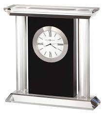 howard miller colonnade 645 745 crystal black desk clock
