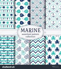 set marine nautical backgrounds navy blue stock vector 424573189