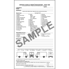detailed driver u0027s vehicle inspection report step van snap out