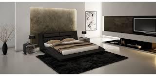leather black tone platform bed j u0026m furniture